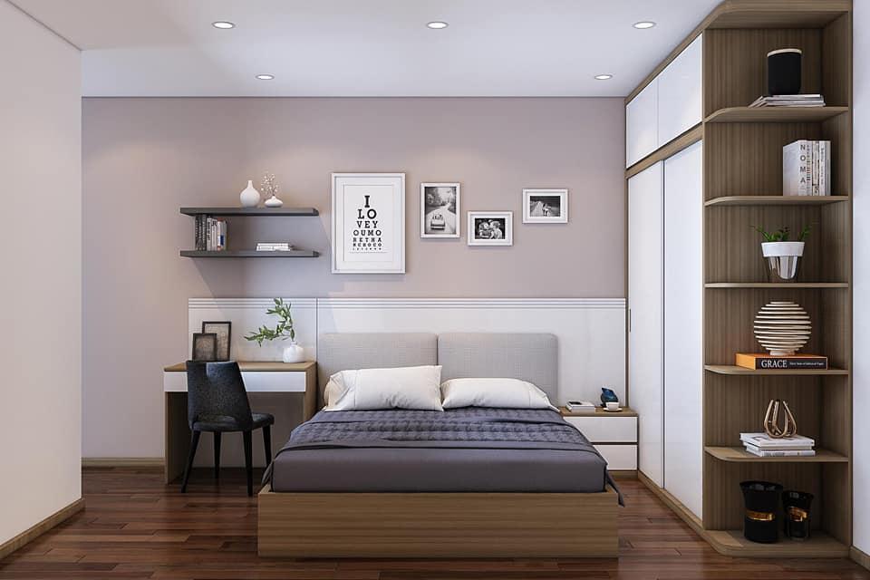 Mầu sắc tối giản nội thất phòng ngủ