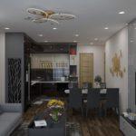 Thiết kế nội thất chung cư tại Nhà anh chiến tòa nhà SAM ở Hà Nội