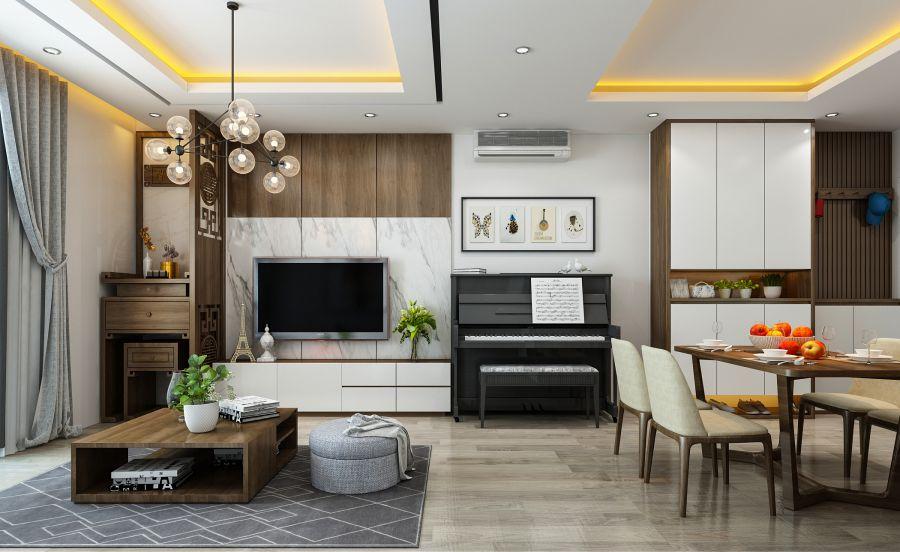 Sang trọng thiết kế nội thất phòng khách
