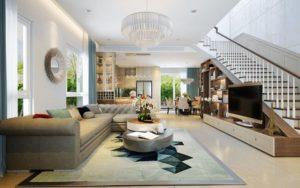 mẫu thiết kế nội thất phòng khách tuyệt đẹp và hiện đại nhất