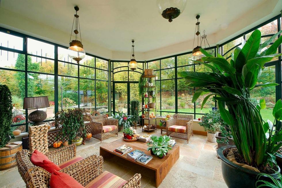 Nội thất phòng khách có không gian tự nhiên
