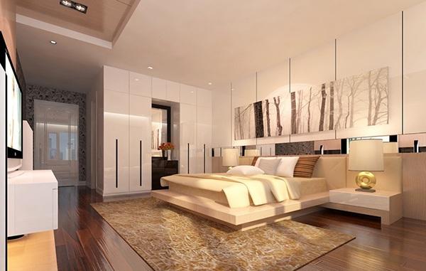 Cách bố trí công năng nội thất phòng ngủ hiện đại